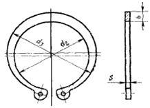 Кольца стопорные пружинные плоские наружные для подшипников din